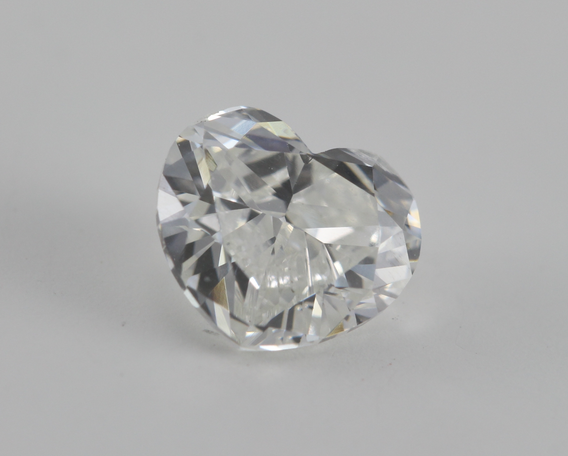 Heart Cut Loose Diamond 1 01 Ct H Si1 Laser Drilled