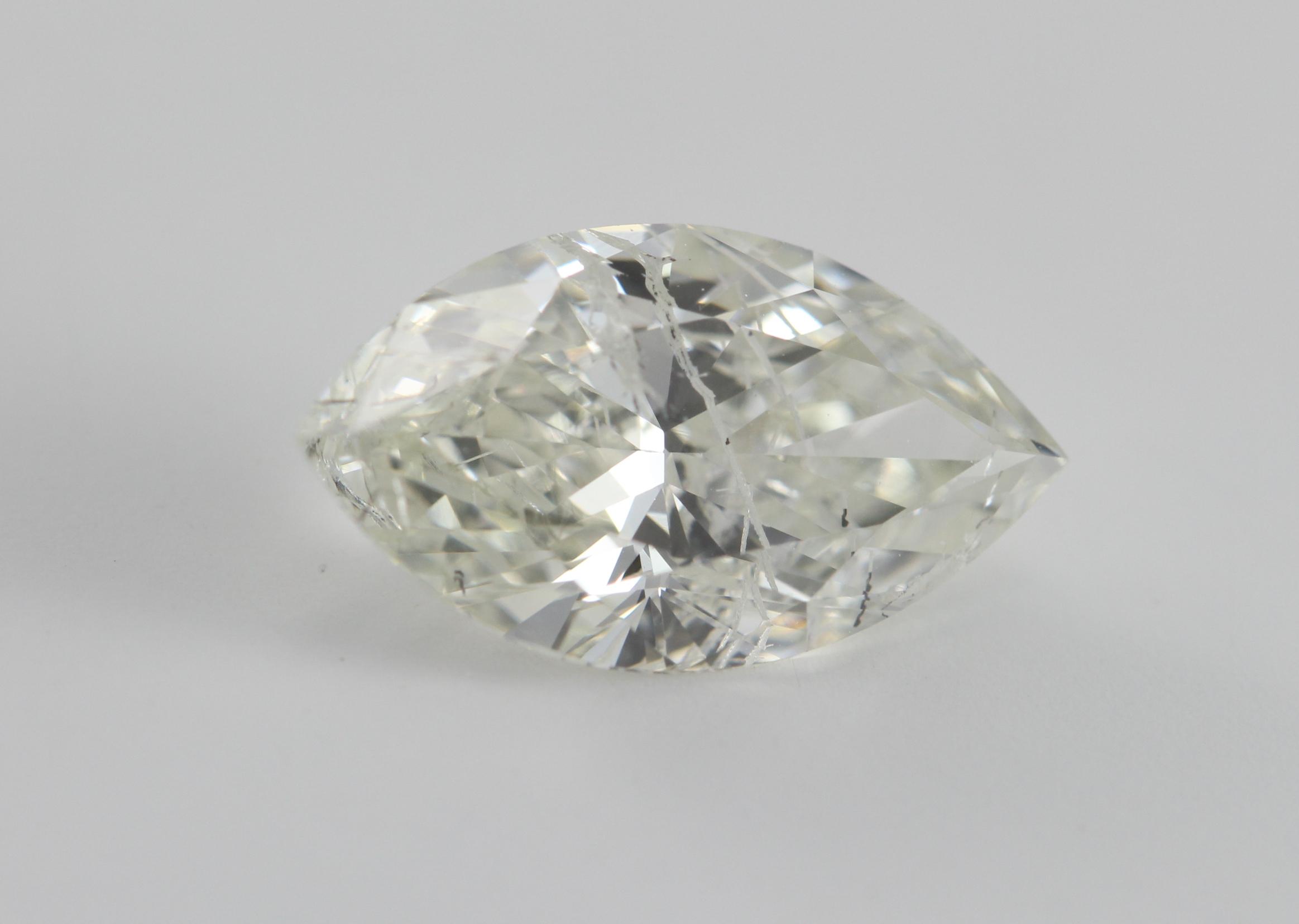 Marquise Cut Loose Diamond 1 53 Ct I J Si3 Laser