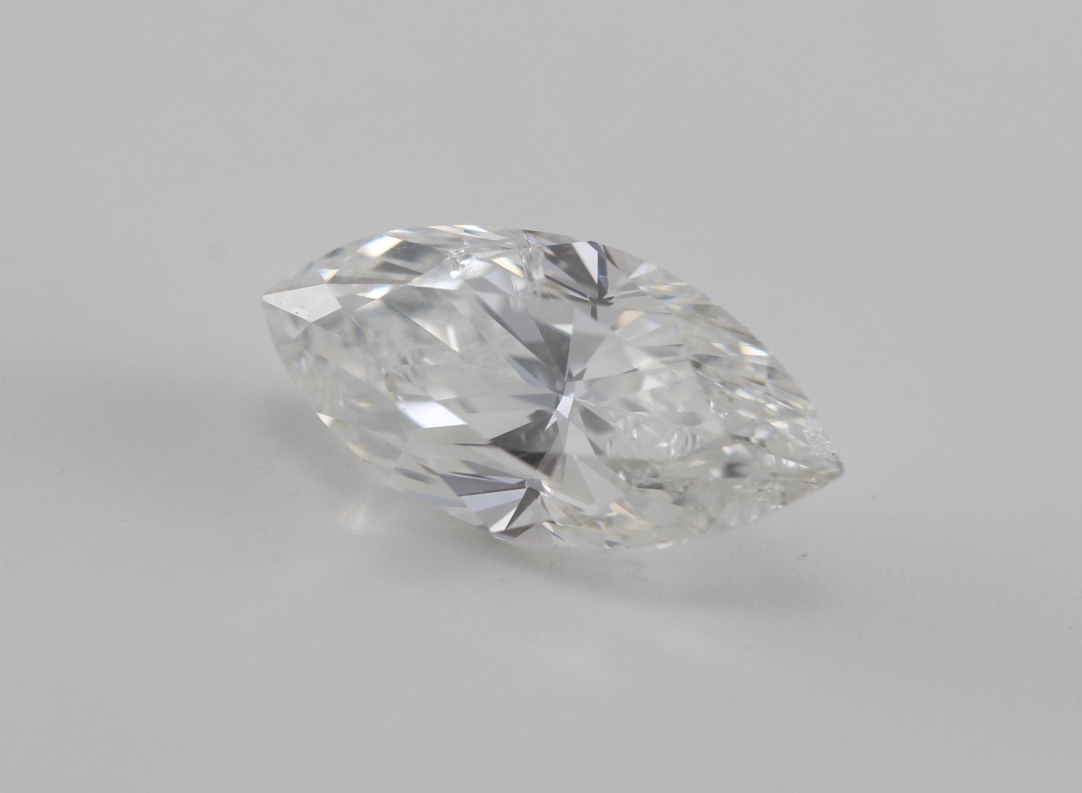 Marquise Cut Loose Diamond 1 03 Ct H I1 Ebay